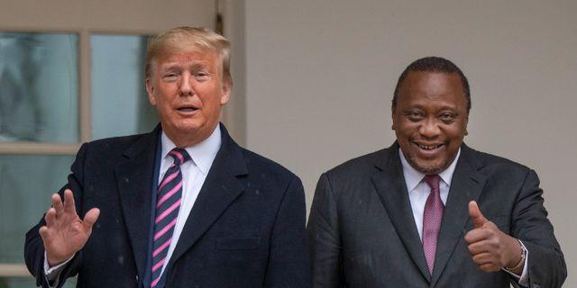 USA:s Donald Trump och Kenyas Uhuru Kenyatta.  Manuel Balce Ceneta / TT NYHETSBYRÅN