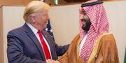 USA:s president Donald Trump och Saudiarabiens kronprins Mohammed bin Salman på G20-mötet i Japan. BANDAR AL-JALOUD / Saudi Royal Palace
