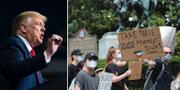 Donald Trump/Demonstranter i Atlanta.  TT