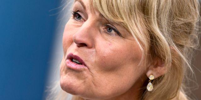 Utrikeshandelsminister Anna Hallberg (S). Claudio Bresciani/TT / TT NYHETSBYRÅN