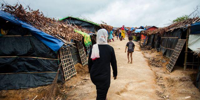 Flyktingläger för rohingyer i Bangladesh. Salahuddin Ahmed / TT NYHETSBYRÅN/ NTB Scanpix