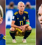 Nilla Fischer, Caroline Seger och Hedvig Lindahl. Bildbyrån