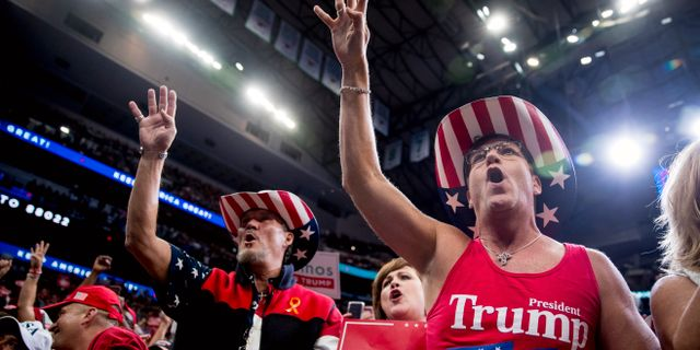 """Trumps väljare i Texas vill ha """"four more years"""". Arkivbild. Andrew Harnik / TT NYHETSBYRÅN"""
