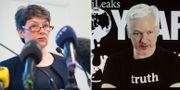 Överåklagare Marianne Ny, samt Julian Assange. TT/AP