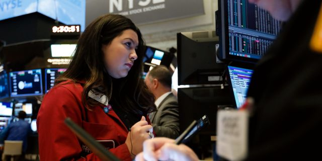 Wall Street-börsen på torsdagen. Richard Drew / TT NYHETSBYRÅN
