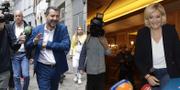 Italiens Matteo Salvini och Frankrikes Marine Le Pen.  TT