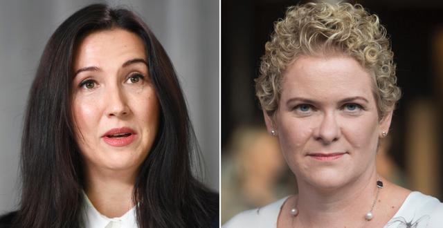 Finansregionrådet Aida Hadžialić och oppositionsborgarrådet Karin Wanngård.