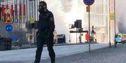 En buss brann i helgen på Tegelbacken i Stockholm. Tomas Bengtsson/TT / TT NYHETSBYRÅN