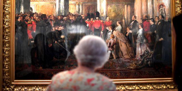 Drottning Elizabeth. Victoria Jones / TT NYHETSBYRÅN