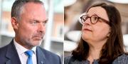 Jan Björklund och Anna Ekström. TT