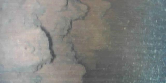 Bild på de lavaliknande klumparna. TT NYHETSBYRÅN