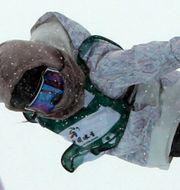 Kinas Liu Jiayu i damernas half pipe vid  FIS Snowboard World Cup.  Ng Han Guan / TT NYHETSBYRÅN
