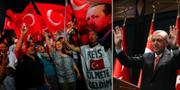Erdogans anhängare, presidenten själv. TT