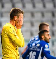 Mjällbys Eric Björkander deppar. CARL SANDIN / BILDBYRÅN