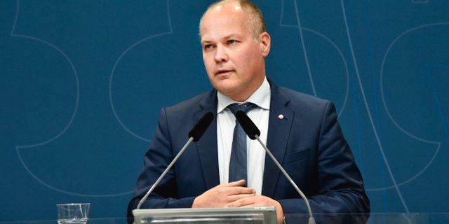 Justitieminister Morgan Johansson (S). Lars Schröder/TT / TT NYHETSBYRÅN
