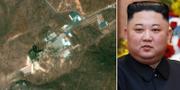 En bild som uppges visa en raketbas under återuppbyggnd/Nordkoreas ledare Kim Jong-Un. TT