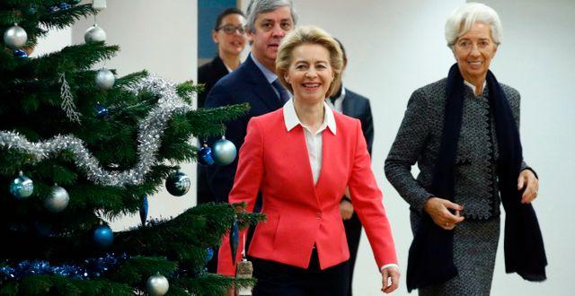 Ursula von der Leyen och Christine Lagarde. Francois Lenoir / TT NYHETSBYRÅN