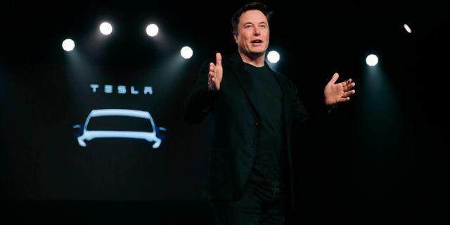 Elon Musk.  Jae C. Hong / TT NYHETSBYRÅN