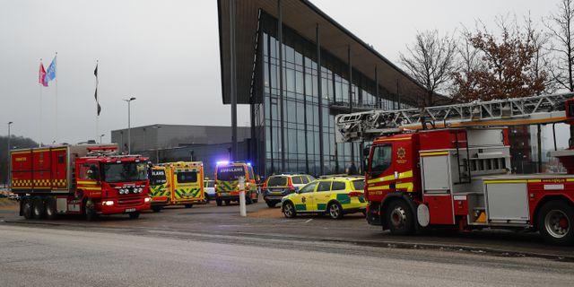 Sveriges Radios och SVT:s gemensamma hus på Hisingen utrymdes efter ett pulverlarm. Thomas Johansson/TT / TT NYHETSBYRÅN
