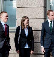 William Hahne, Jessica Ohlson och Gustav Kasselstrand CHRISTINE OLSSON / TT / TT NYHETSBYRÅN