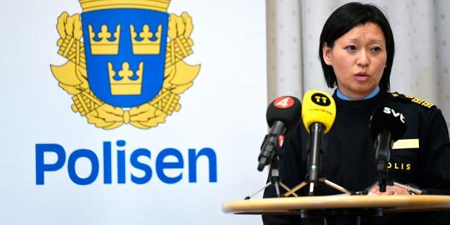 Helena Trolläng, Polisens utredningschef. Björn Larsson Rosvall/TT / TT NYHETSBYRÅN