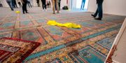 Bild från moskén efter dådet Heiko Junge / TT NYHETSBYRÅN