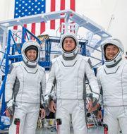 Space X visar upp astronauter som ska till rymdstationen ISS. Arkivbild. TT NYHETSBYRÅN
