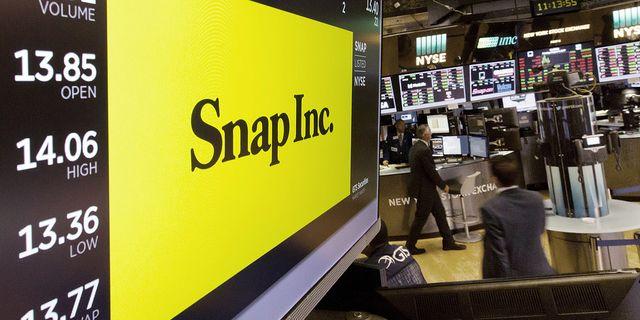 Snap Inc har gått uselt sedan börsintroduktionen på Wall Street. TT