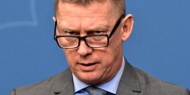 Säpos chef Klas Friberg.  Janerik Henriksson/TT / TT NYHETSBYRÅN