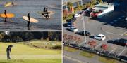 Människor golfar, surfar och köar till McDonalds Drive-through-kassa när Nya Zeeland nu lättat på restriktionerna.  TT