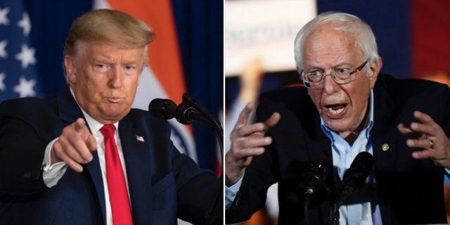 Donald Trump och Bernie Sanders. TT