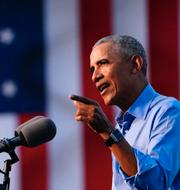 Publiken kom i sina bilar / Barack Obama under talet TT