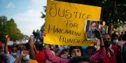 Demonstration för Hachalu Hundessa i Minnesota, USA (Arkivbild). Jeff Wheeler / TT NYHETSBYRÅN