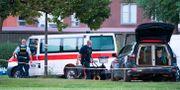 Polisens avspärrningar vid den tekniska undersökningen av brottsplatsen i Herlev. Johan Nilsson/TT / TT NYHETSBYRÅN