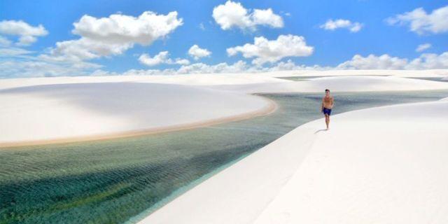 Turkost vatten mot kritvit sand – visst är det vackert! Wikicommons