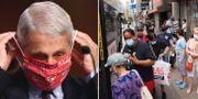 Anthony Fauci i senaten/Människor kliver på en buss i Brooklyn TT