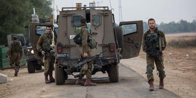 Arkivbild/Israelisk militär nära Gaza.  Tsafrir Abayov / TT NYHETSBYRÅN