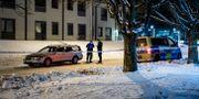 Polisavspärrning vid brottsplatsen ULF PALM / TT / TT NYHETSBYRÅN