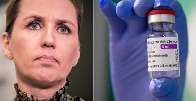 Statsminister Mette Fredriksen. Astra Zenecas vaccin.   TT