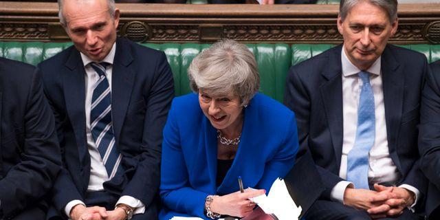 Premiärminister Theresa May i parlamentet på onsdagen.  Mark Duffy / TT NYHETSBYRÅN/ NTB Scanpix