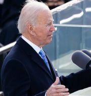 Joe Biden talar.  Kevin Dietsch / TT NYHETSBYRÅN