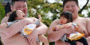 Tävling för gråtande bebisar. Illustrationsbild.  Shizuo Kambayashi / TT / NTB Scanpix
