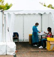 Testning i Bayonne i Frankrike där smittan ökar. Bob Edme / TT NYHETSBYRÅN