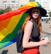 Prideparad i Warszawa i juni. Czarek Sokolowski / TT NYHETSBYRÅN