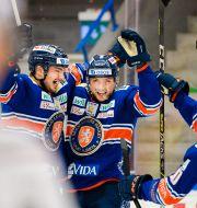 Firande vid ett av Växjös mål.  JONAS LJUNGDAHL / BILDBYRÅN