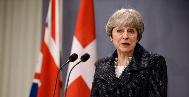 Theresa May Mads Claus Rasmussen / TT NYHETSBYRÅN