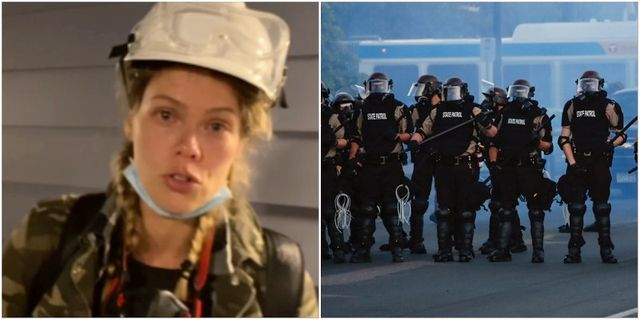 Nina Svanberg/Poliser i Minneapolis under protesterna Expressen/TT