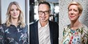 Maria Landeborn, Michael Grahn och Anna Breman.  TT