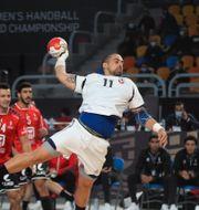 Bild från matchen.  MOHAMED ABD EL GHANY / BILDBYRÅN