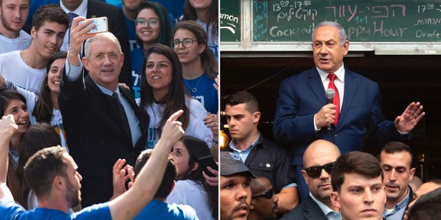 Benny Gantz / Benjamin Netanyahu. TT